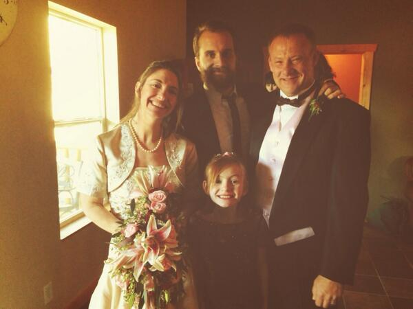 """I officiated my first my real wedding today in Garden Valley, Idaho. Congrats Will & Bonnie."" - @TuckerMaile"
