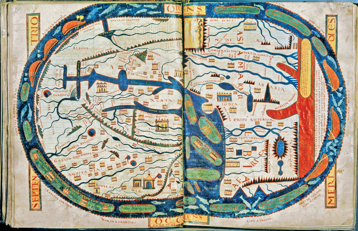 9 maps of imaginary worlds new book huffpost saint sever world map from the emsaint sever beatus gumiabroncs Choice Image