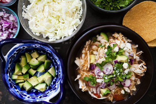 """<strong>Get the <a href=""""http://www.simplyrecipes.com/recipes/chipotle_turkey_pozole/"""" target=""""_blank"""">Chipotle Turkey Pozole"""