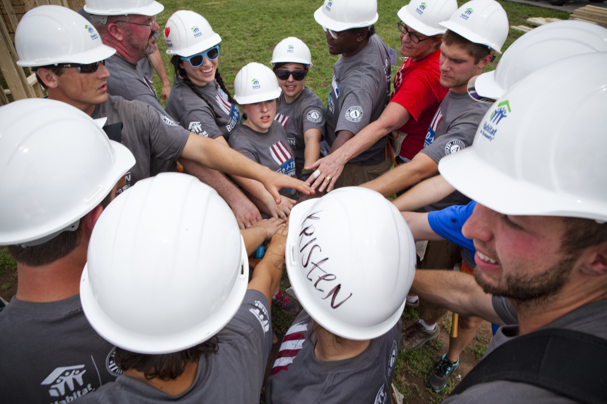 Habitat for Humanity, Washington, DC during the 2013 Build-A-Thon.  Since 1994, over 7,000 AmeriCorps members have served w
