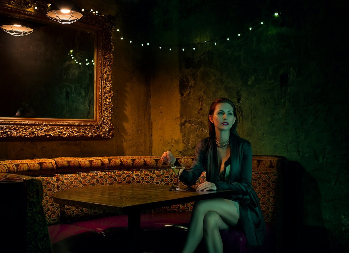 """A sexy, low-lit bar styled to resemble a Prohibition-era speakeasy, <a href=""""http://www.greenrussell.com/"""" target=""""_blank"""">Gr"""