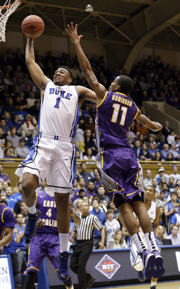 "As a freshman, Parker is exceptionally <a href=""http://www.huffingtonpost.com/jordan-schultz/dukes-jabari-parker-_b_4267733.h"