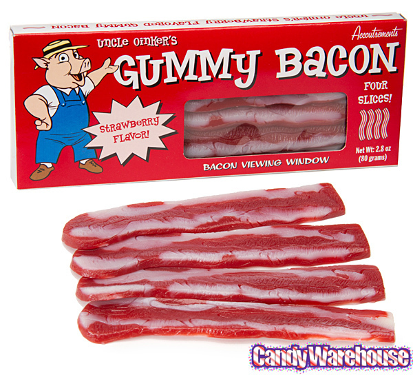 """Well, yeah, we should have seen this coming.<br><br><em><a href=""""http://www.candywarehouse.com/products/gummy-bacon-strips-4-"""