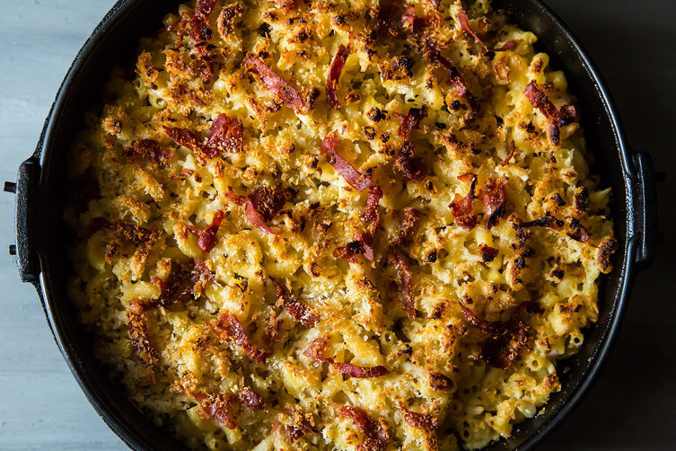 """<strong>Get the <a href=""""http://food52.com/recipes/19185-crab-mac"""" target=""""_blank"""">Crab Mac recipe from Food52</a></strong>"""