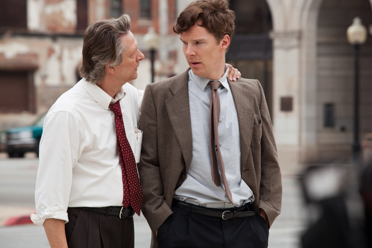 "This photo provided by The Weinstein Company shows Chris Cooper, left, as Charles Aiken, and Benedict Cumberbatch, as ""Little"