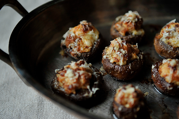 "<strong>Get the <a href=""http://food52.com/recipes/3110-creamy-sausage-stuffed-mushrooms"" target=""_blank"">Creamy Sausage Stuf"