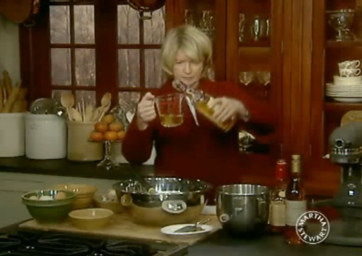 """""""That's the knock 'em dead stuff."""" You can load up your nog with all the booze you want, but NOT the brandy. It packs too pow"""