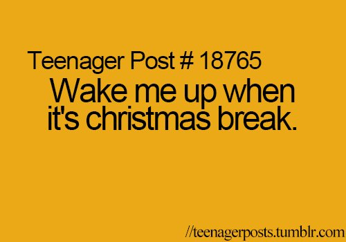 Teenager Posts Of The Week Wake Me Up When It S Christmas