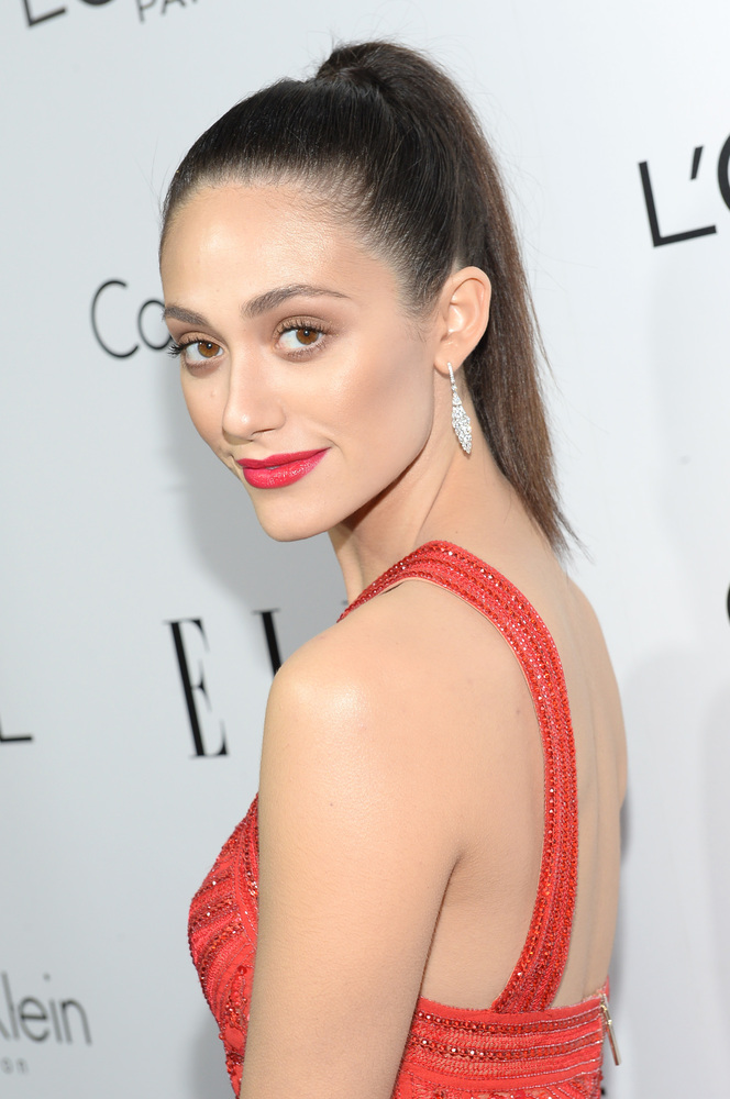 BEVERLY HILLS, CA - OCTOBER 21:  Actress Emmy Rossum attends ELLE's 20th Annual Women In Hollywood Celebration at Four Season