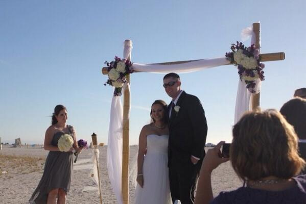 """""""Our 12/1 beach wedding was everything I ever dreamed of!"""" - @jnetter"""