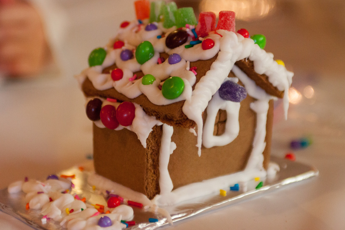 """On Christmas, my family has a ginger bread house building competition."" -- Courtney Carroll"