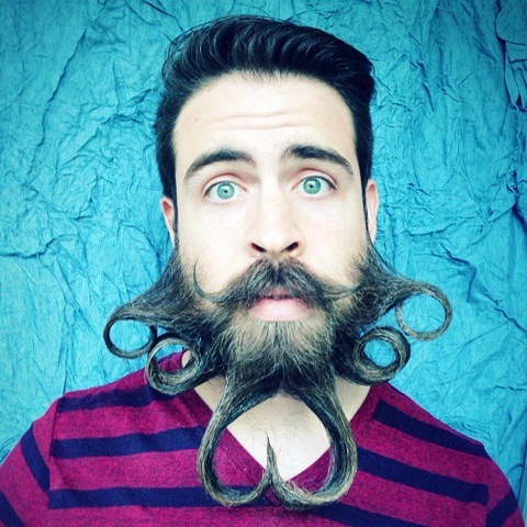 "Isaiah Webb, founder of <a href=""http://incredibeardco.com"" target=""_blank"">Incredibeard</a>, models one of his many beard st"