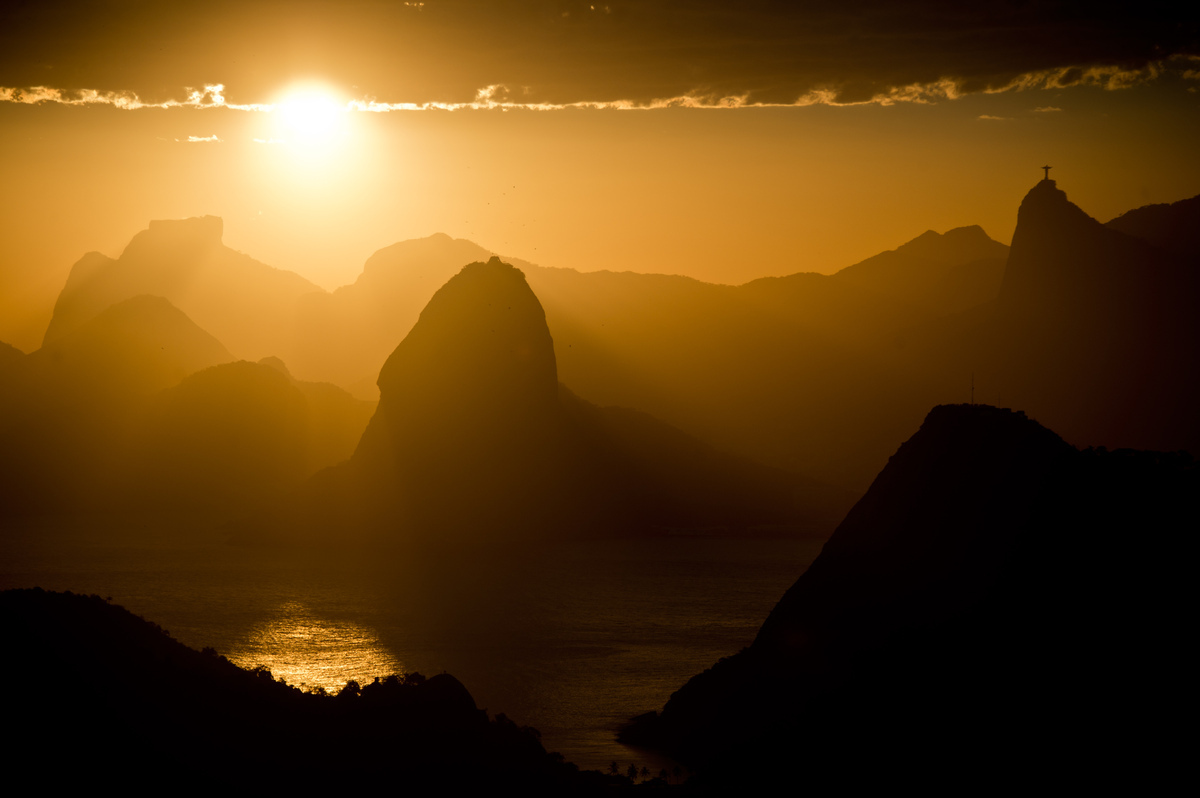 Sunset over Rio de Janeiro, on November 15, 2013. (Christophe Simon / AFP / Getty Images)