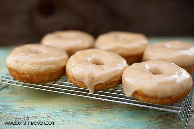 """<strong>Get the <a href=""""http://www.bunsinmyoven.com/2012/07/12/browned-butter-glazed-cinnamon-donuts/"""">Brown Butter Glazed C"""