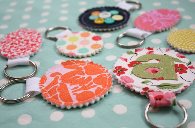 7 Fabric Scrap Keychains