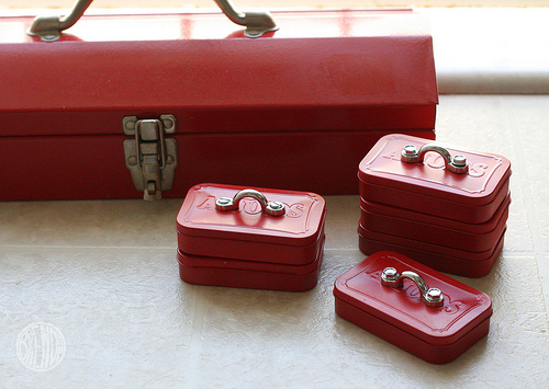 """This <a href=""""http://www.huffingtonpost.com/2012/12/07/homemade-gift-ideas-altoid-toolbox_n_2259505.html"""">mini toolbox</a> is"""