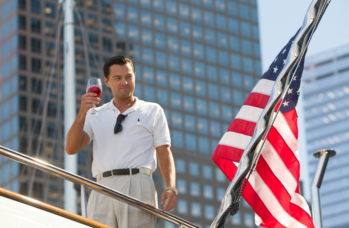"This film image released by Paramount Pictures shows Leonardo DiCaprio as Jordan Belfort in a scene from ""The Wolf of Wall St"