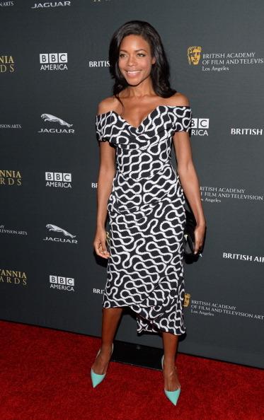 BEVERLY HILLS, CA - NOVEMBER 09: Actress Naomie Harris with Stylebop.com attends the 2013 BAFTA LA Jaguar Britannia Awards pr