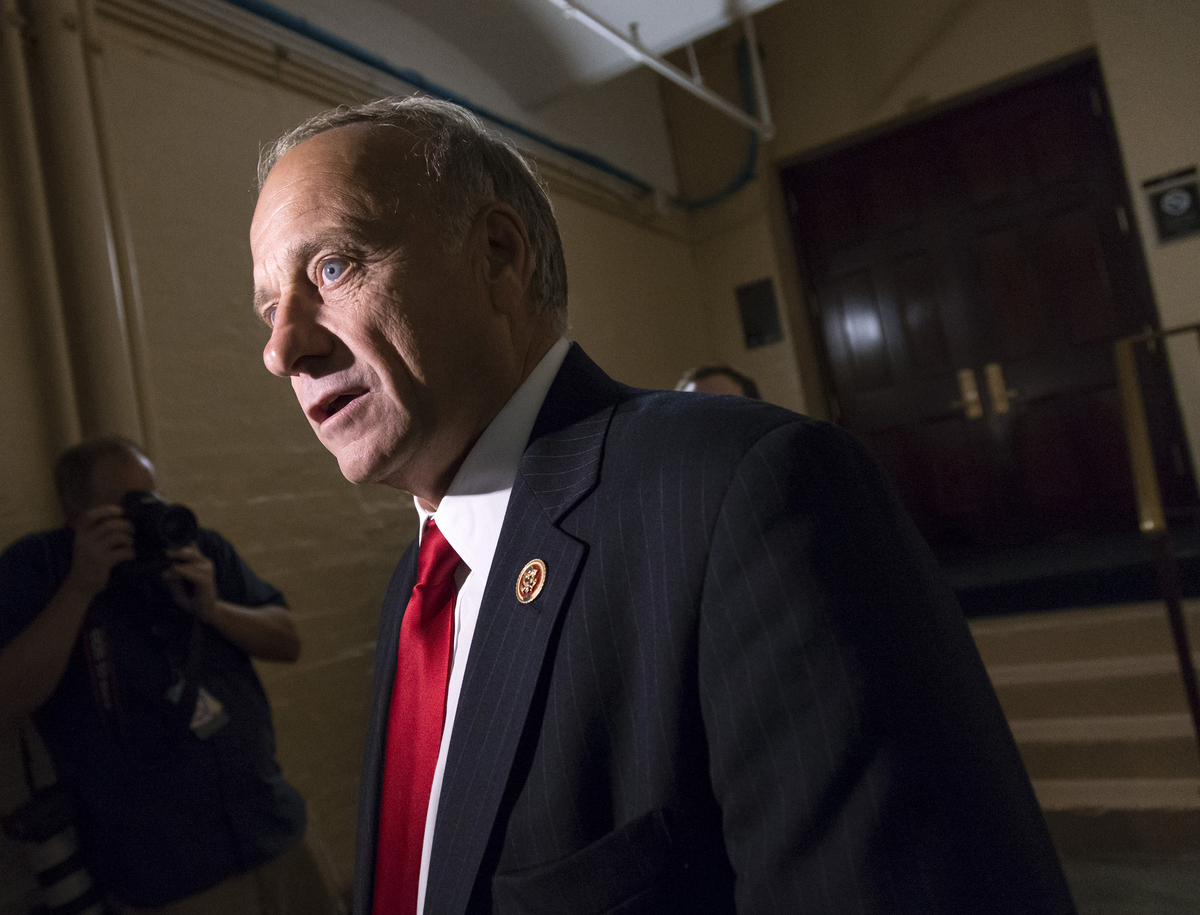 """U.S. Rep. Steve King had already stood out before 2013 for comparing immigrants to dogs, then <a href=""""http://www.huffingtonp"""