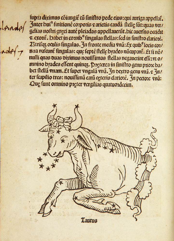 <em>Hyginus, Clarissimi Cliri Iginij Poeticon…. Venice, 1482.</em>  Early depictions of constellations are not maps, but deco