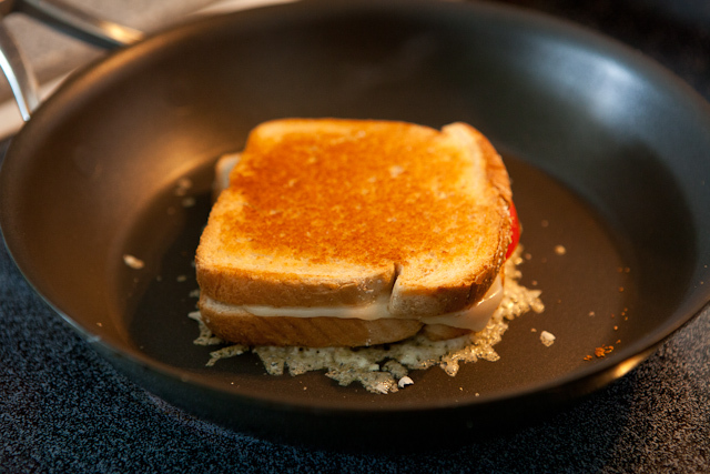 Make 1,000 grilled cheeses. Make them when you are half asleep. Make them when you are drunk. Eat them for breakfast. Add ing