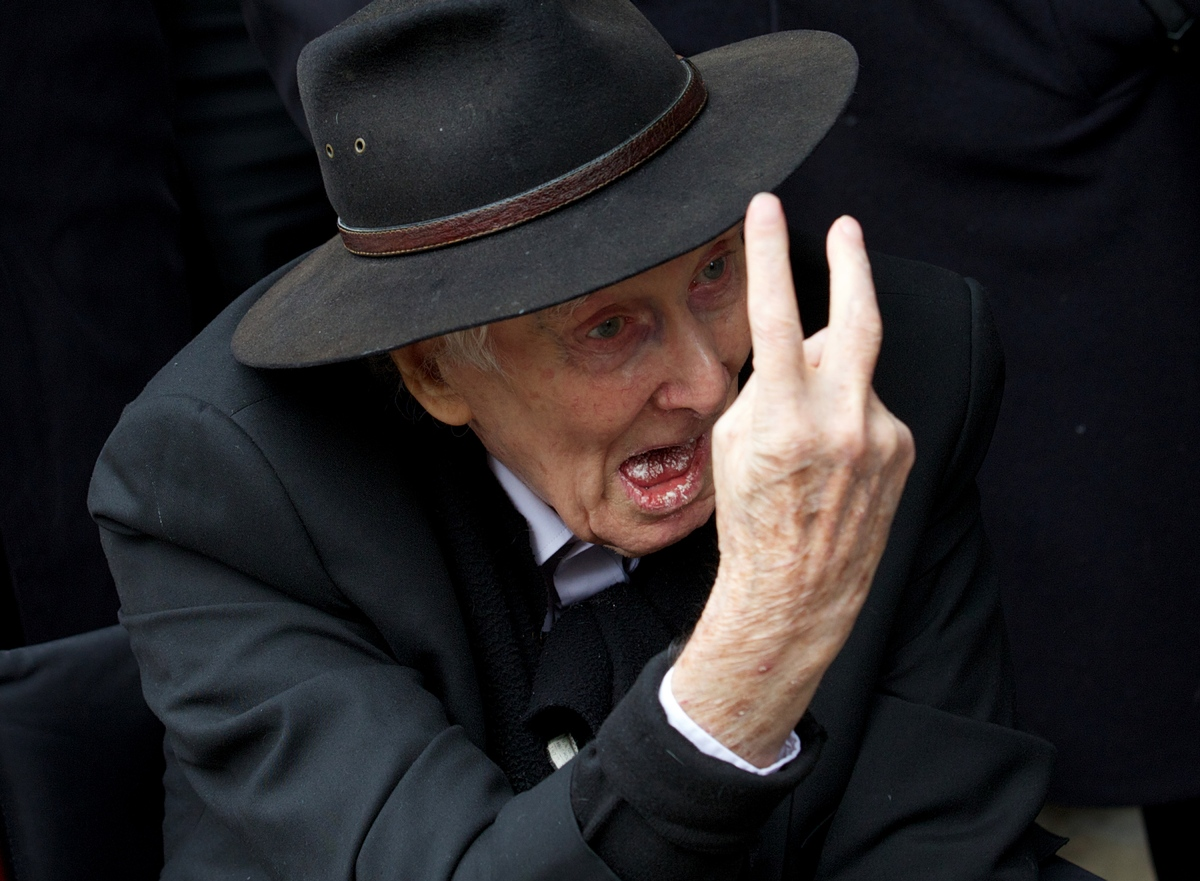 (FILES) In this file picture taken on March 20, 2013 Ronnie Biggs, 83 notorious for his role in the Great Train Robbery of 19