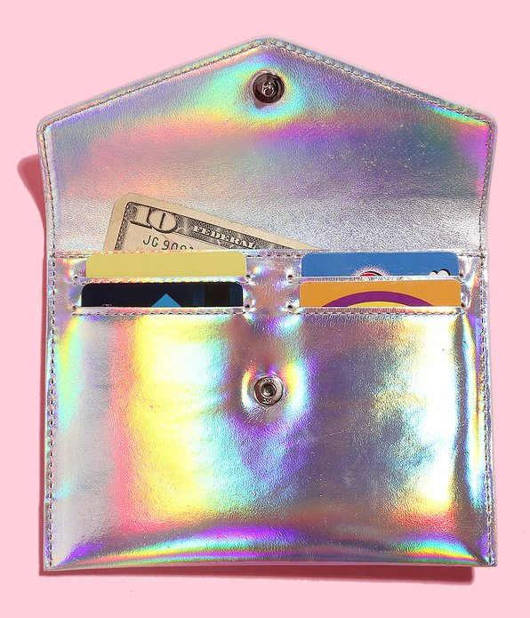 """To buy click <a href=""""http://www.mzwallace.com/shop/products/4550551-0000/greta-holographic-silver-leather"""" target=""""_blank"""">H"""