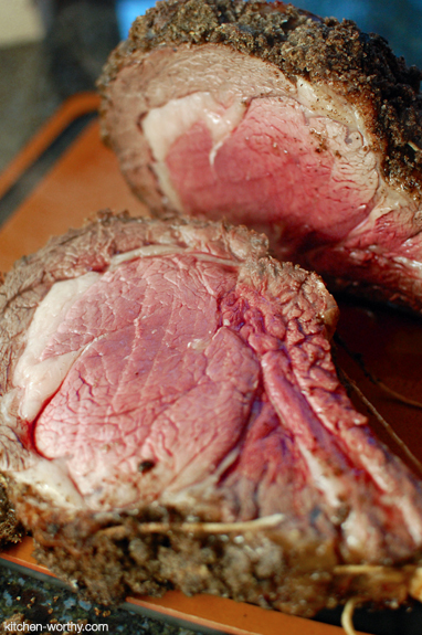 "<strong>Get the <a href=""http://kitchenconfidante.com/a-prime-celebration"">Wasabi-Garlic Crusted Prime Rib Roast recipe</a> f"