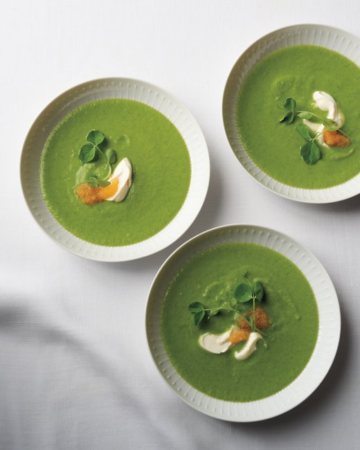 """<strong>Get the <a href=""""http://www.marthastewart.com/967970/pea-and-parsley-soup-golden-caviar?czone=holiday%252Feaster-cent"""