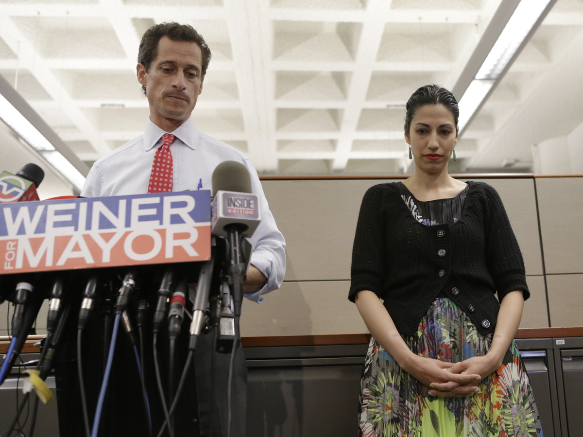 Anthony Weiner ran for mayor of New York in 2013, after a sexting scandal that forced him to resign from Congress in 2011. Tw