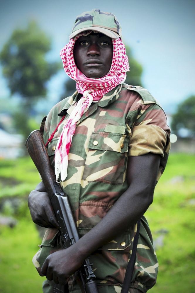 A M23 rebel on April 27, 2013, in Rutshuru, Democratic Republic of the Congo. The group is strengthening its tactics, followi