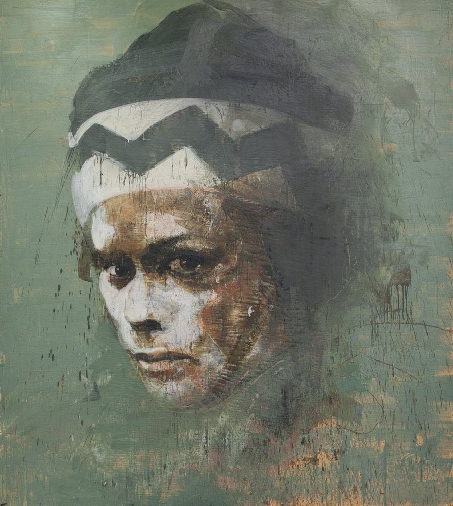 Tony Scherman, <em>Me, Hamlet</em>, 2012-13, encaustic on canvas, 96 x 84 in. (Images 1-7 copyright Tony Scherman, courtesy W