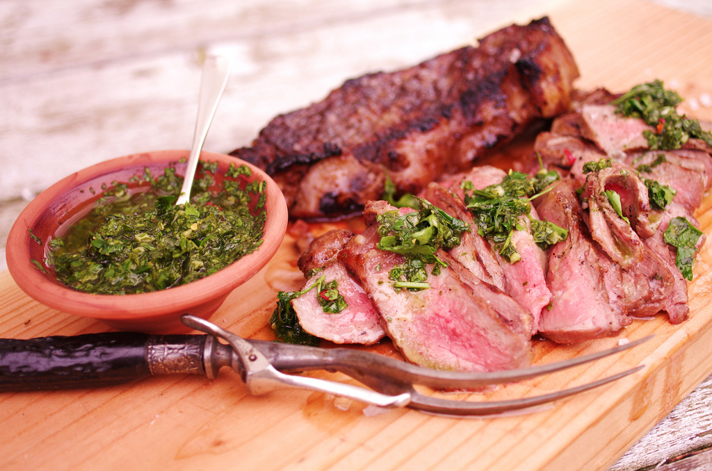 Because chimichurri beats barbecue sauce any day.