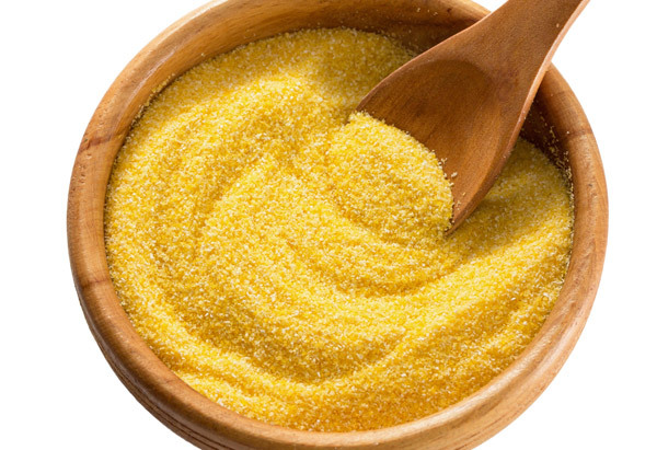 While you can buy several versions of cornmeal, many grocery stores offer the whole-grain type complete with corn germ, a sou