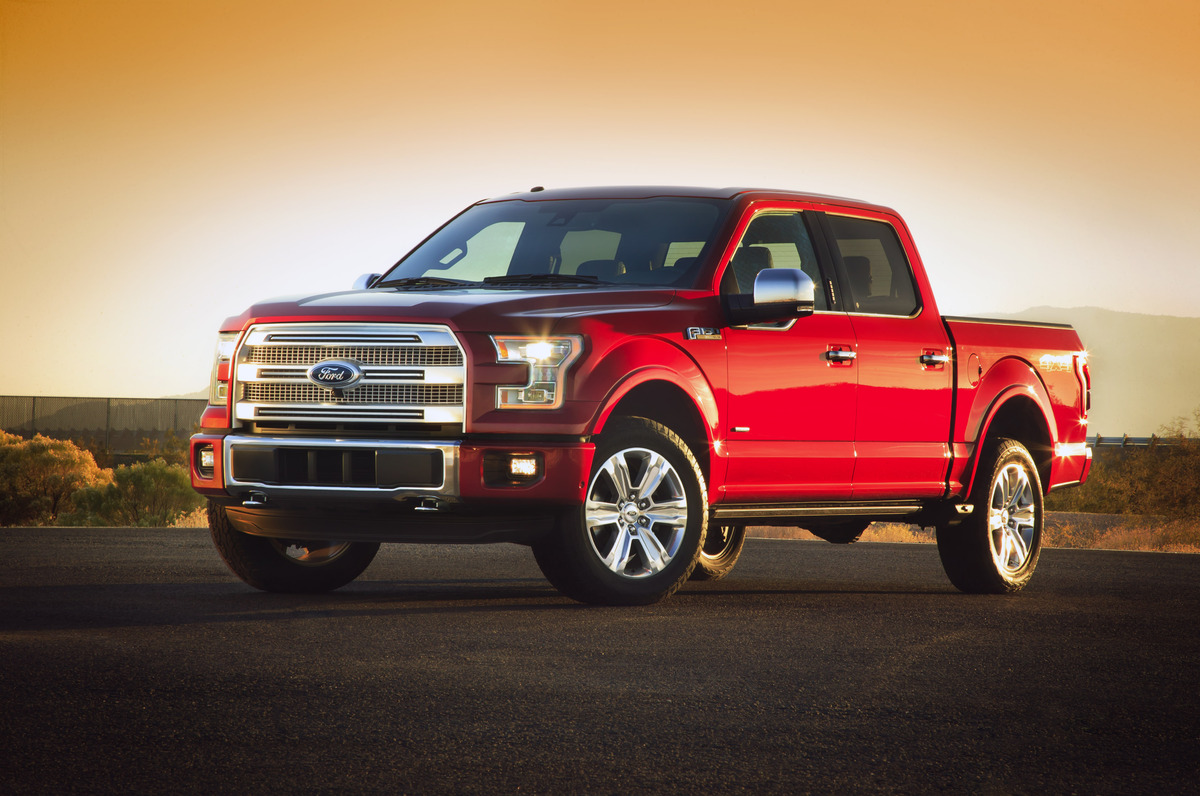"""Armed with a new aluminum body, the all-new F-150 is as much as <a href=""""http://www.huffingtonpost.com/2014/01/13/new-ford-f1"""