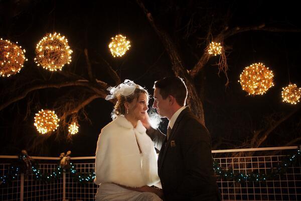 """""""Ika and Matt were married outside on the Merrill Patio @AspenMeadows in Aspen, Colorado 1/11/14"""" - @SeanCayton"""
