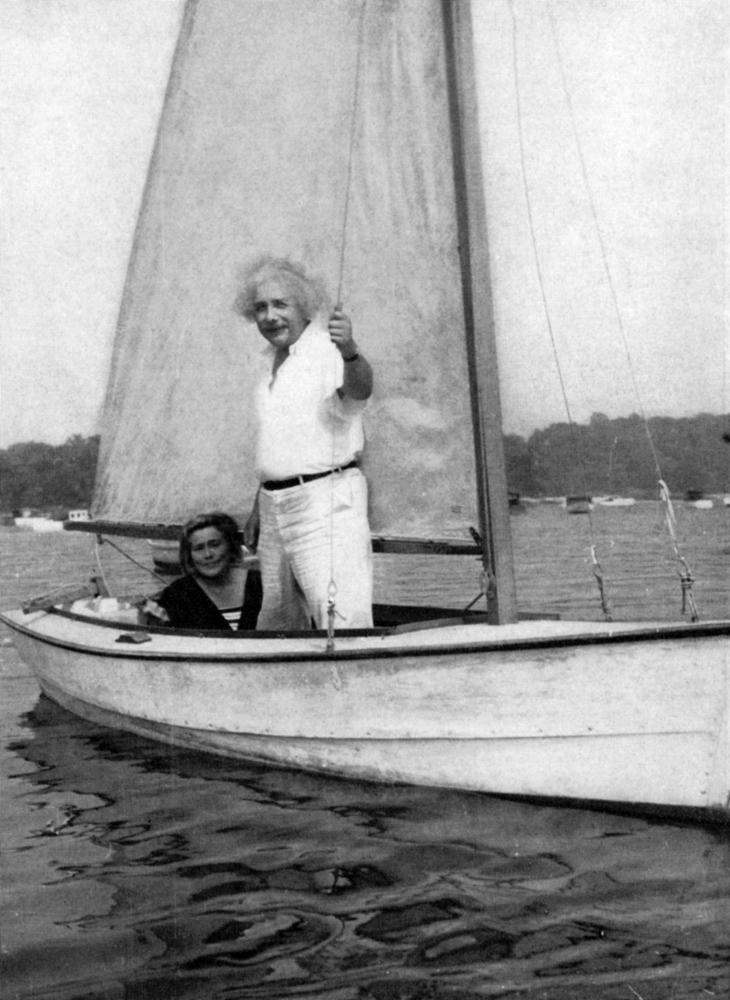 Albert Einstein sets sail.