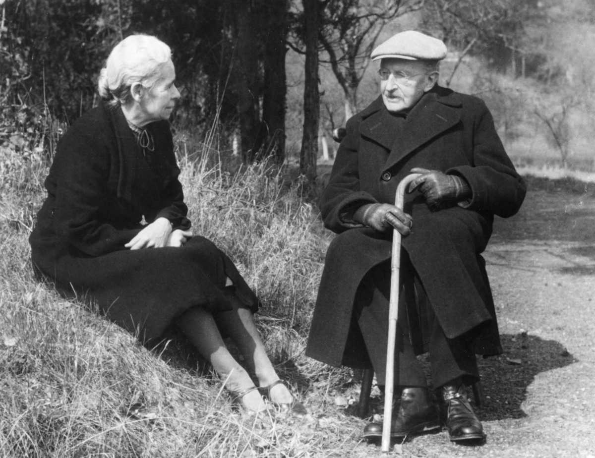German theoretical physicist Max Planck (1858-1947) with his second wife, Marga.