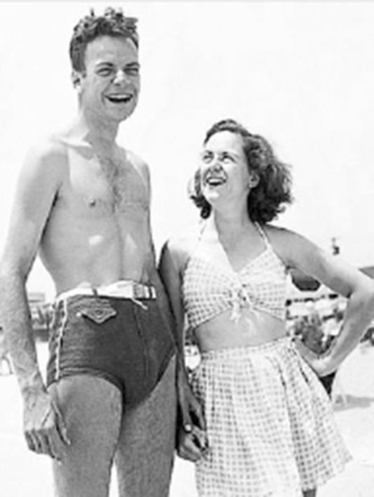 Physicist Joan Feynman (born 1927) with her brother Richard Feynman.