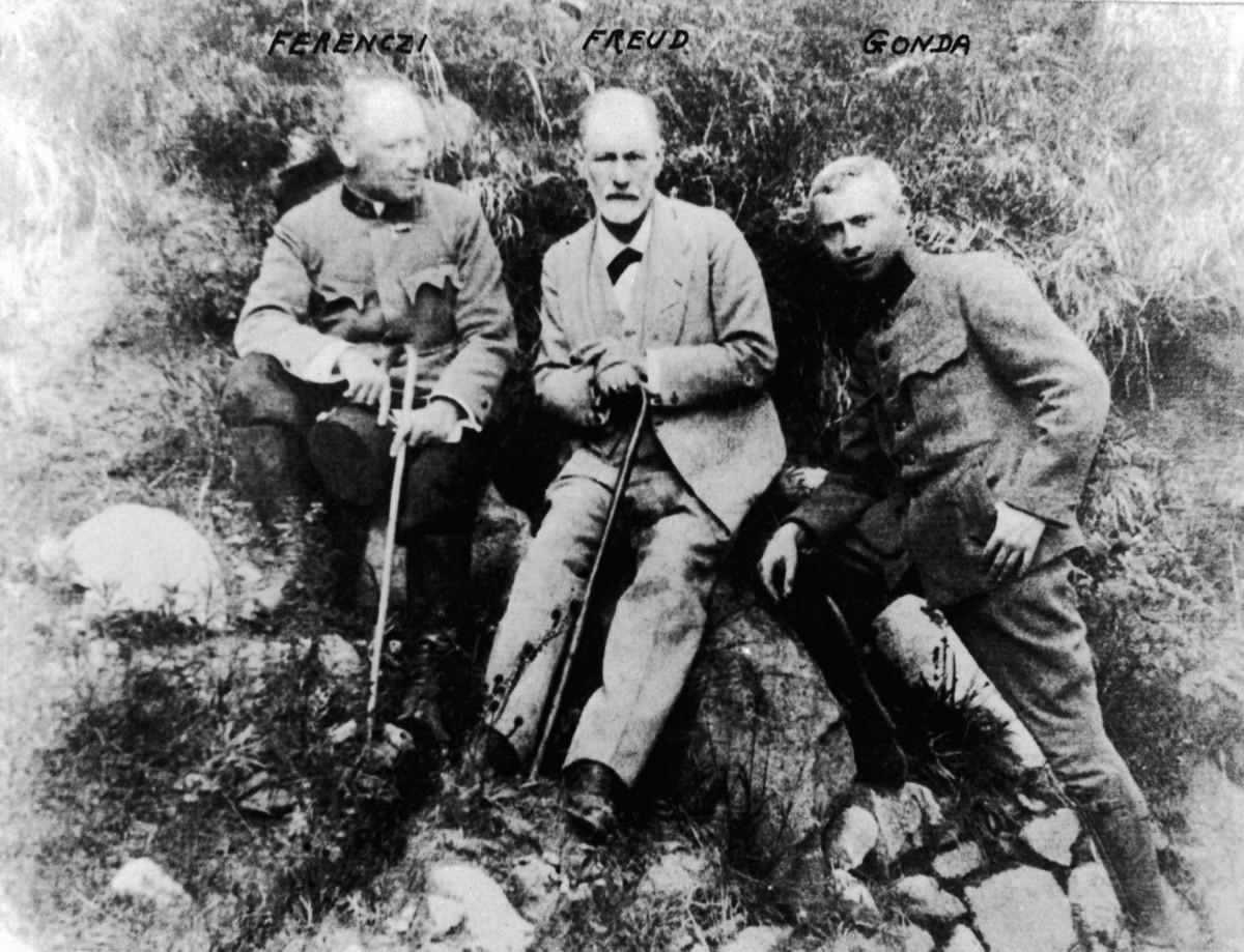 Sigmund Freud (1856-1939) in the Tatra Mountains in 1917.