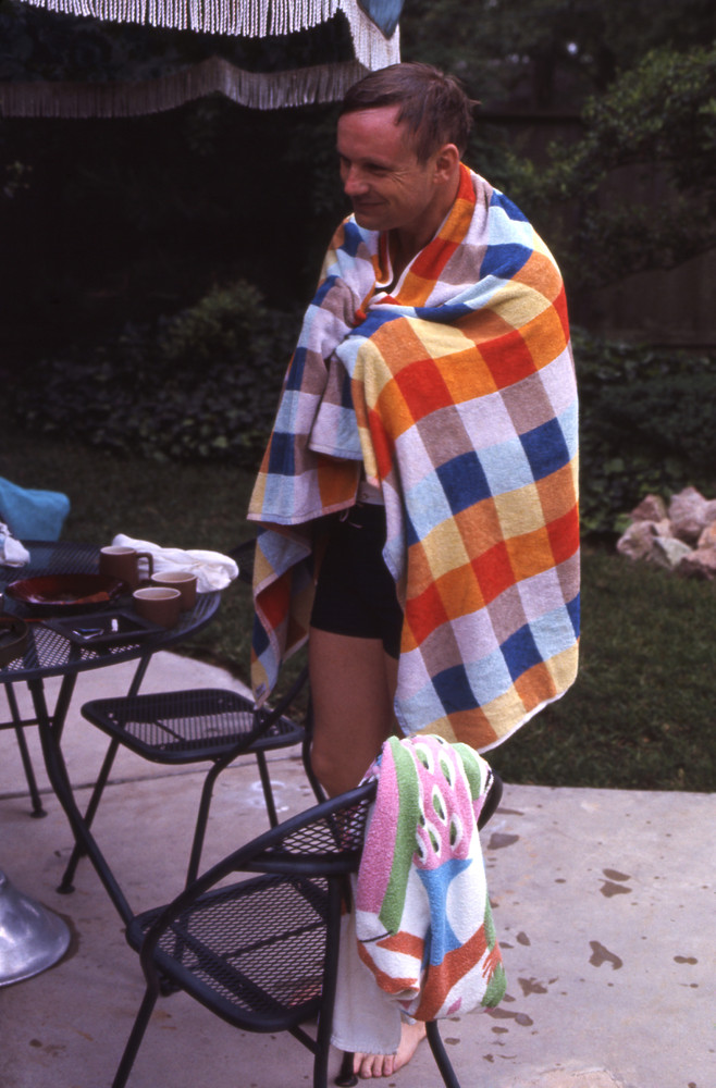 Neil Armstrong (1930-2012) poolside in Houston in 1969.