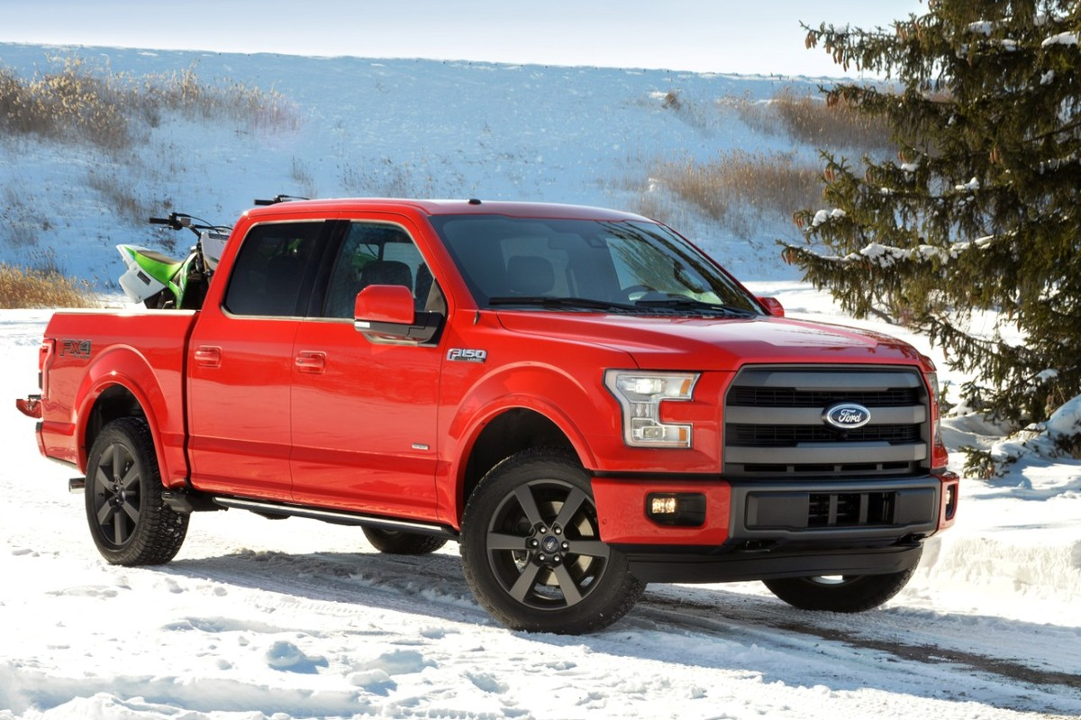 Thanks to a body made almost entirely of aluminum, the new F-150 weighs up to 700 lbs. less than its predecessor -- that's pr