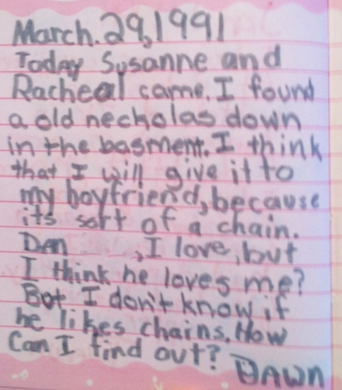 """In case you forgot what it was like to be a tween with a crush in the early 90s,<a href=""""http://www.my1992diary.com/"""" target="""