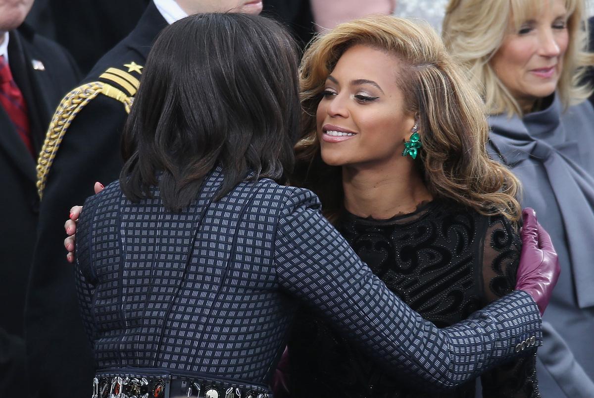 FLOTUS got to hug Beyonce at Barack's 2013 inauguration. Enough said.