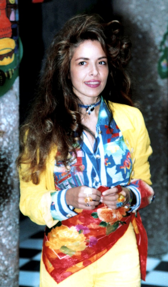 """Before the star's arrest in 2000 and her time spent in prison, Trevi was dominating the charts with her """"Pelo Suelto"""" in 1990"""