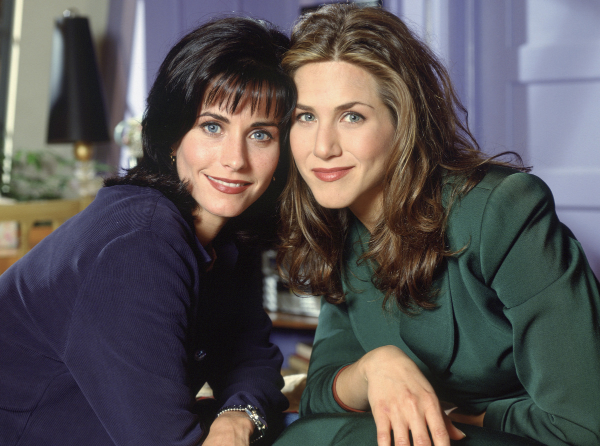 "Jennifer Aniston and Courteney Cox met on the set of ""Friends"" in the early '90s and have been attached at the hip (with the"