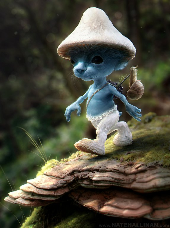 """""""It is generally difficult to spot a Smurf; they are very apprehensive and cunning. Sadly though, it is rumored that they are"""