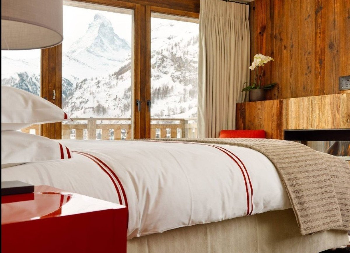 """Les Anges chalet is known as """"The Best in the World,"""" and the title is fitting. The view of the Matterhorn alone makes this c"""