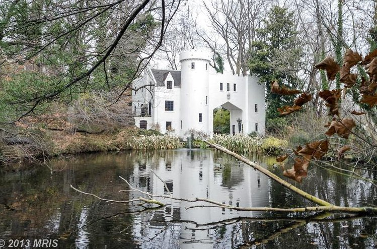 This castle in the D.C. suburbs is surprisingly affordable! That might be because it only has three bedrooms, four baths. But