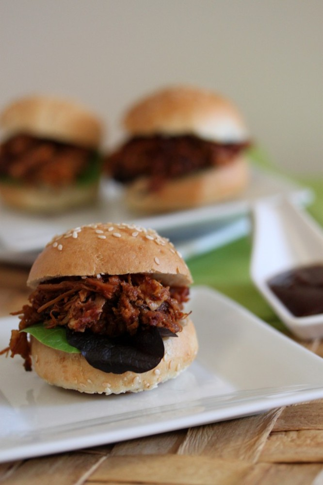 "<strong>Get the <a href=""http://whatsgabycooking.com/pulled-pork-sliders/"">Pulled Pork Sliders recipe</a> from What's Gaby Co"
